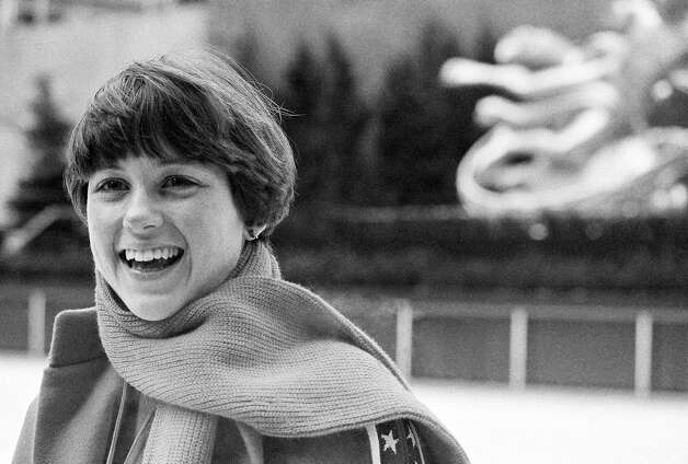Olympics skaters continued to skate outdoors at the Rockefeller rink, however. Here is World and national freestyle skating champion Dorothy Hamill is shown at  Roc Center in 1976. Photo: Ron Frehm, AP / AP1976