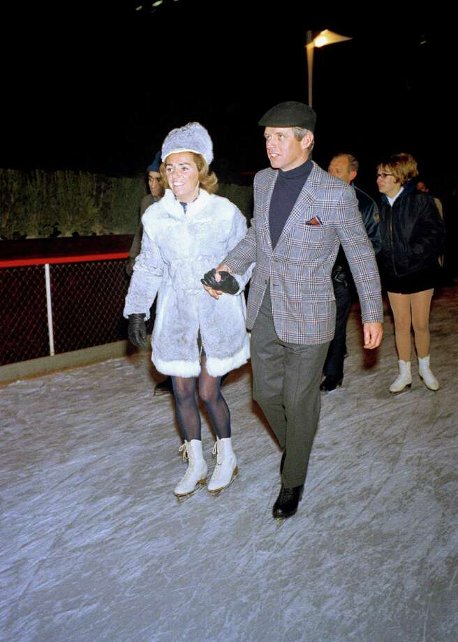The rink is, of course, is open for political photo ops too: Sen. Robert F. Kennedy and his wife, Ethel, ice skate at rink in 1968. Photo: Anonymous, AP / AP2009