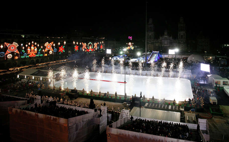 Even though New York likes to think of itself as the center of the world, the rink Mexico City's main Zocalo square is the biggest in the world. Photo: Marco Ugarte, ASSOCIATED PRESS / AP2010
