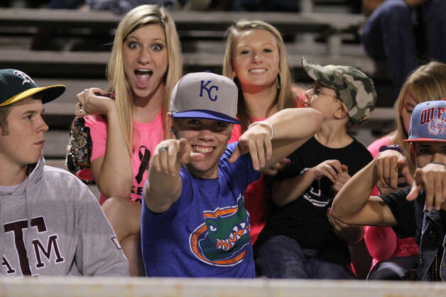 Jasper's fans ham it up during the big win over Cohen College Prep. Photo: Jason Dunn