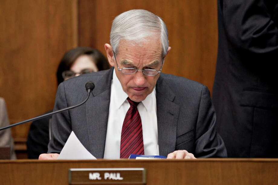 Ron Paul waits to start a House Financial Serves Committee hearing in Washington, D.C. on Feb. 29, 2012. Photo: Andrew Harrer, Bloomberg / © 2012 Bloomberg Finance LP