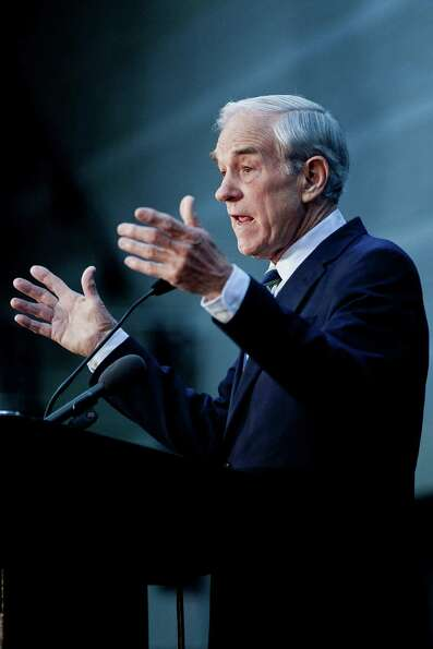 Ron Paul speaks during a town hall meeting at the University of Maryland on March 28, 2012 in Colleg