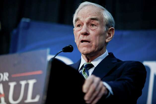 Ron Paul speaks during a town hall meeting at the University of Maryland on March 28, 2012 in College Park, Maryland. Photo: T.J. Kirkpatrick, Getty Images / 2012 Getty Images
