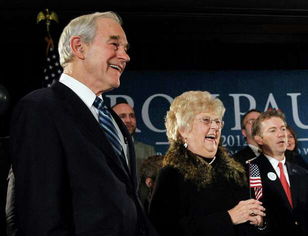 Ron Paul and his wife, Carol attend his caucus night rally, Tuesday, Jan. 3, 2012, in Ankeny, Iowa. Photo: Eric Gay, Associated Press / AP