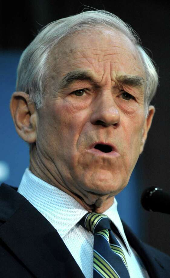 Ron Paul appears at a town hall meeting in College Park, Md., Wednesday, March 28, 2012. Photo: Cliff Owen, Associated Press / FR170079 AP