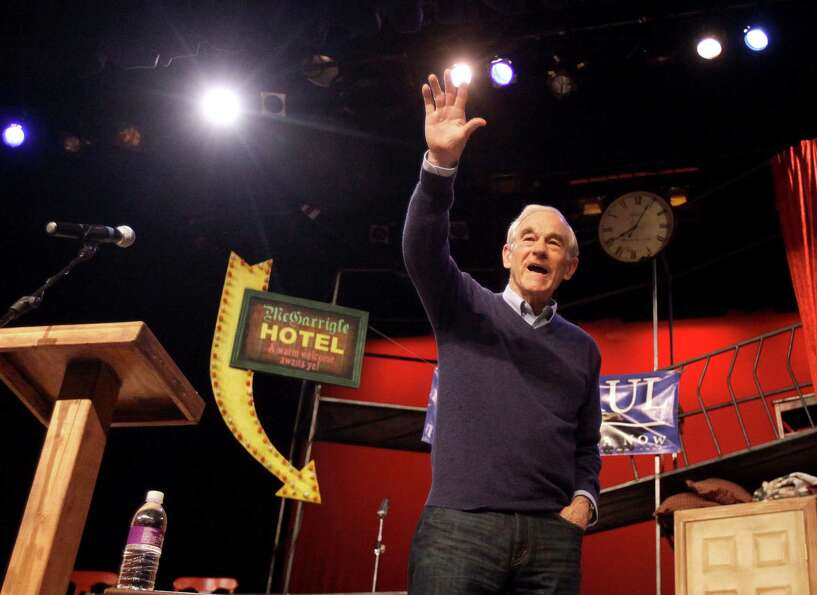 FILE - In this Feb. 16, 2012 file photo, Republican presidential candidate, Rep. Ron Paul, R-Texas,