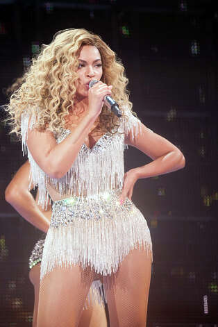 In this Friday May 25, 2012 photo provided by Parkwood Entertainment, Beyonce performs at Revel in Atlantic City, N.J., for the resort's premiere. It is the first of four scheduled shows for Memorial Day weekend. (AP Photo/Parkwood Entertainment, Robin Harper) Photo: AP, HOEP / Parkwood Entertainment