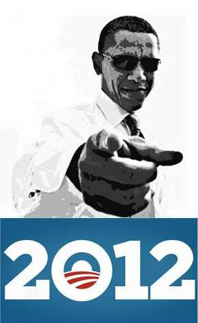 Adams used this image of Obama for the new mural to replace the one vandals damaged across the street from The Breakfast Klub at Travis and Alabama in October 2012. (Credit Reginald C. Adams) Photo: Handout