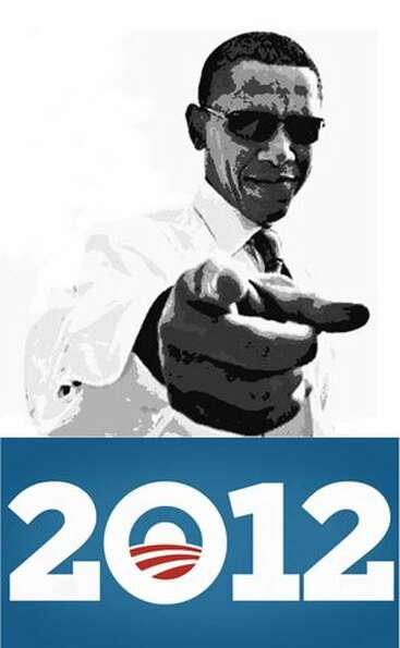 Adams used this image of Obama for the new mural to replace the one vandals damaged across the stree