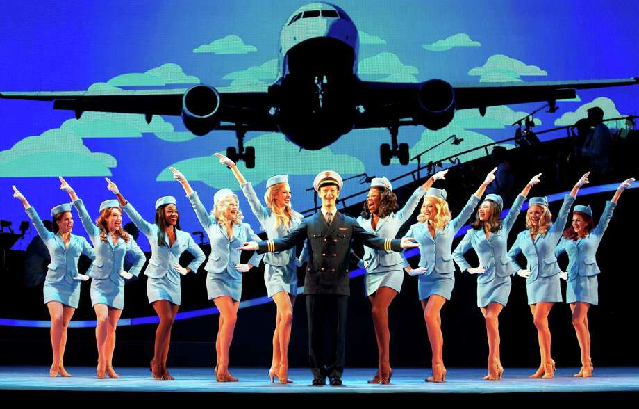 "A scene from the touring version of the musical ""Catch Me If You Can,"" which opens the 2012 Majestic Broadway series. Photo: Courtesy Photo"