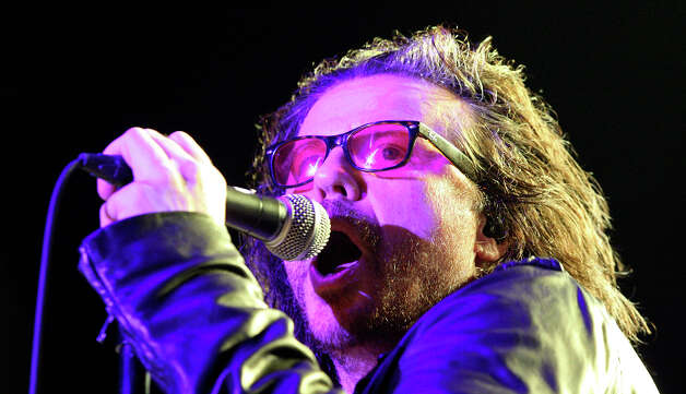 FOR METRO - The Cult's Ian Astbury performs with the band during South by Southwest Saturday March 17, 2012 in Austin, TX. Photo: EDWARD A. ORNELAS, SAN ANTONIO EXPRESS-NEWS / © SAN ANTONIO EXPRESS-NEWS (NFS)
