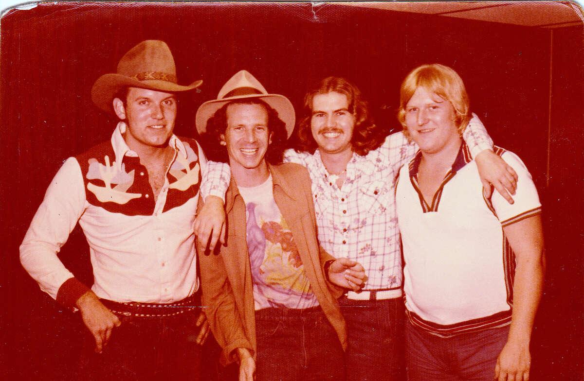 The Drugstore Cowboys with Gary Stewart: Dub Robinson (left), Stewart, Randy Toman and Robert