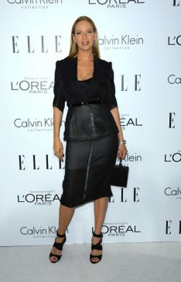 Actress Uma Thurman arrives at ELLE's 19th Annual Women In Hollywood Celebration at the Four Seasons Hotel on October 15, 2012 in Beverly Hills, California. (Frazer Harrison / Getty Images)