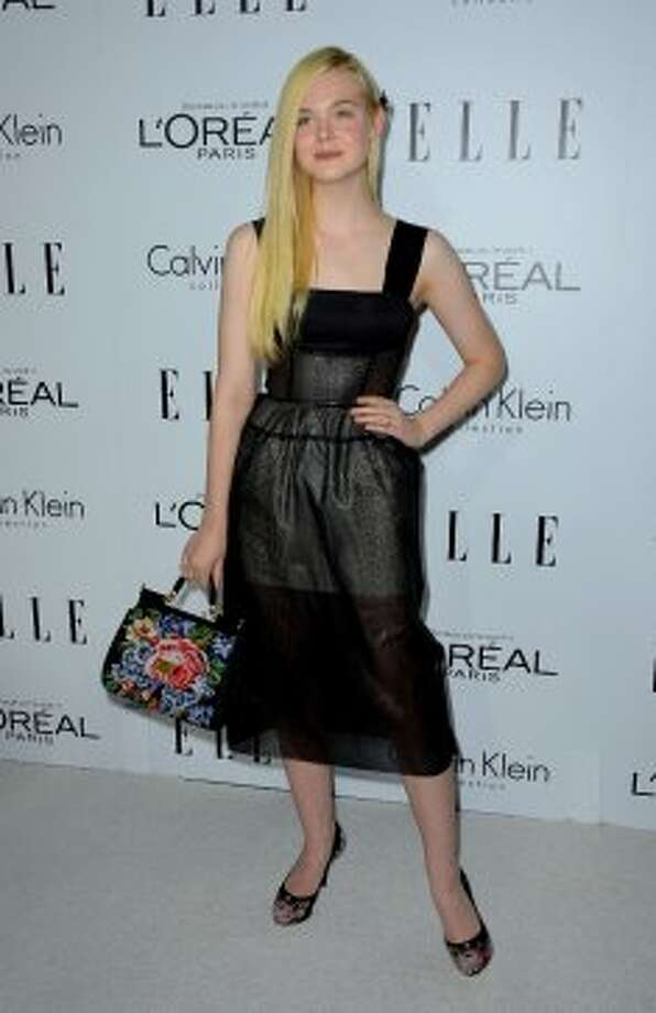 Actress Elle Fanning arrives at ELLE's 19th Annual Women In Hollywood Celebration at the Four Seasons Hotel on October 15, 2012 in Beverly Hills, California. (Frazer Harrison / Getty Images)