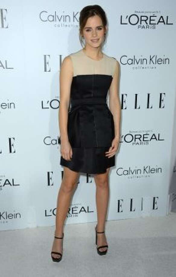 Actress Emma Watson arrives at ELLE's 19th Annual Women In Hollywood Celebration at the Four Seasons Hotel on October 15, 2012 in Beverly Hills, California.  (Frazer Harrison / Getty Images)