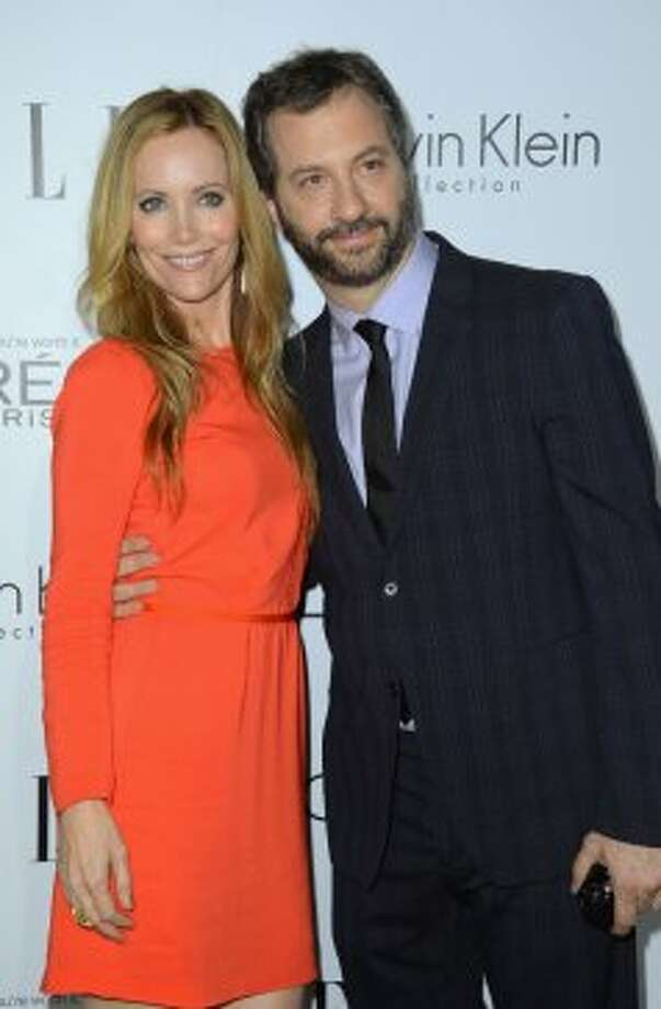 Actress Leslie Mann and director Judd Apatow arrive at ELLE's 19th Annual Women In Hollywood Celebration at the Four Seasons Hotel on October 15, 2012 in Beverly Hills, California.   (Frazer Harrison / Getty Images)