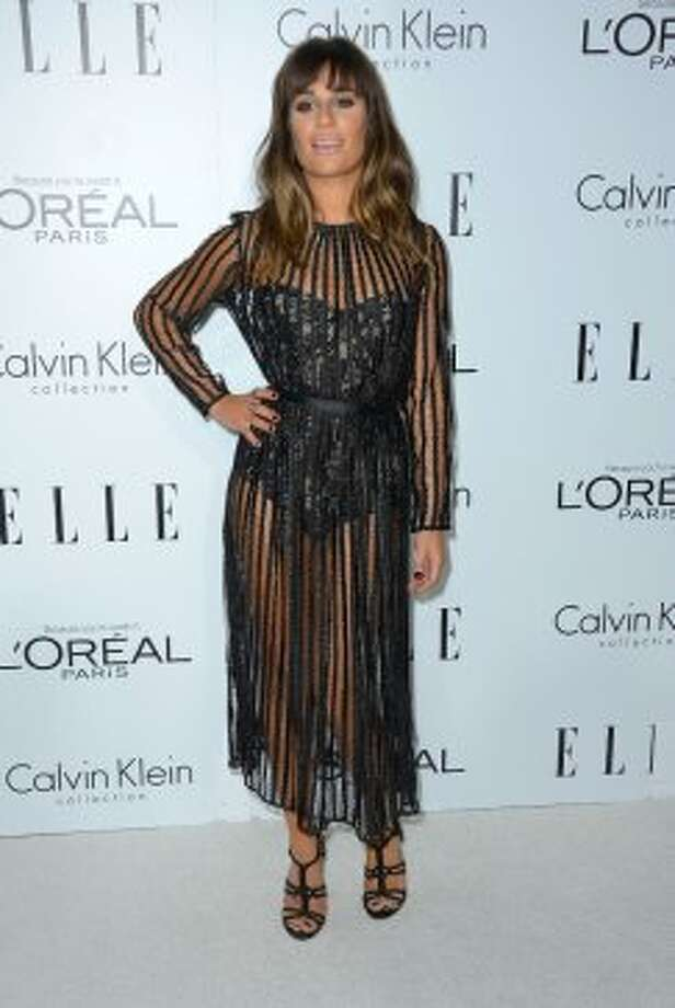 Actress Lea Michele arrives at ELLE's 19th Annual Women In Hollywood Celebration at the Four Seasons Hotel on October 15, 2012 in Beverly Hills, California.   (Frazer Harrison / Getty Images)