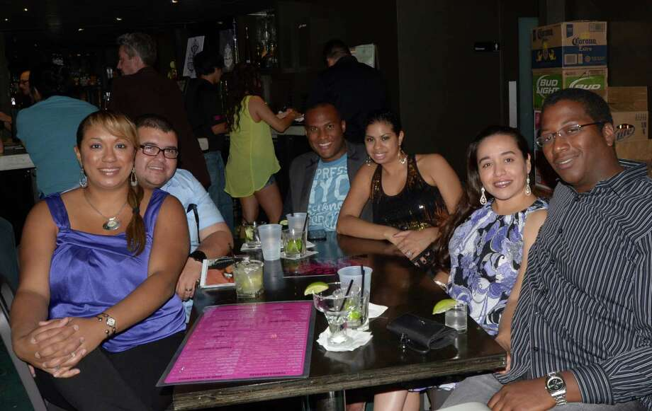 Sarah Sanchez (from left), Michael Sanchez, Ronald and Tamar Love (cq) and Lisa and Lee White spend their Saturday night with live jazz and drinks at The Worm on October 13, 2012. Robin Johnson Photo: Robin Johnson