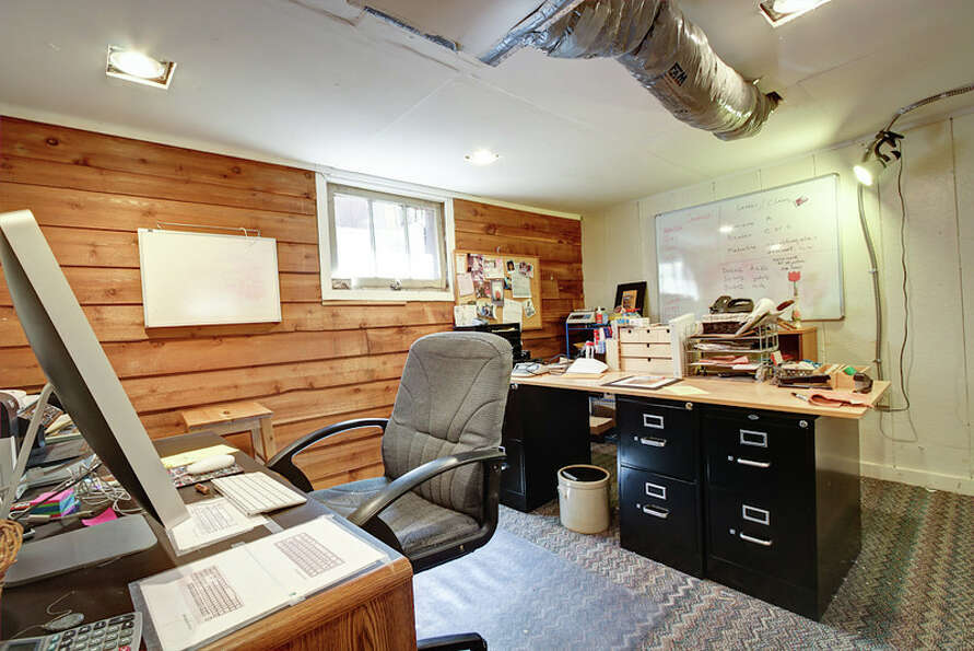 Basement office of