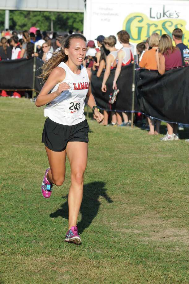 Lamar senior Lexi Reamer is among the standouts for the Redskin girls, who are favored to defend their District 20-5A championship at Tom Bass Park next week. Photo: L. Scott Hainline