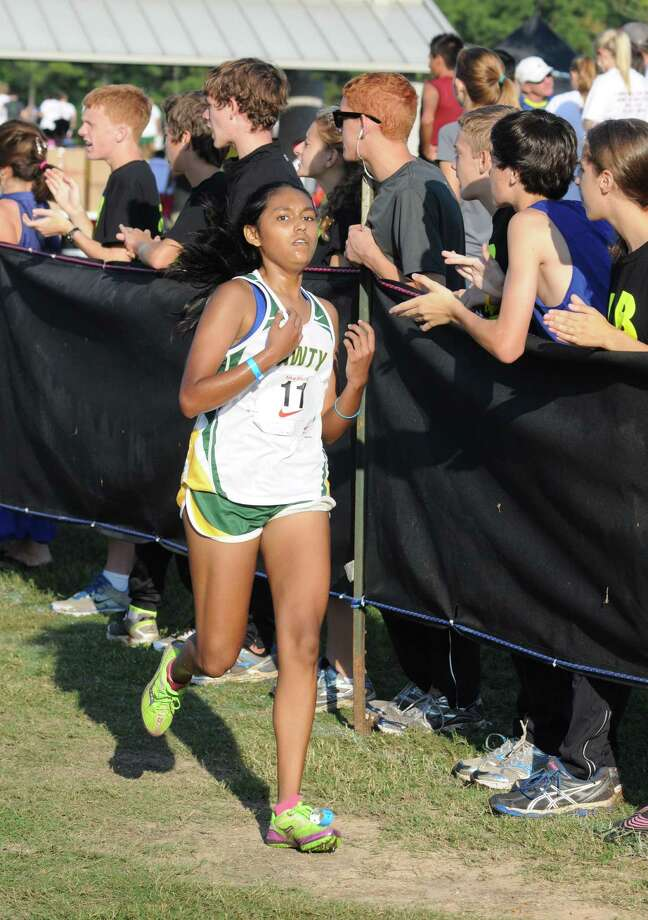 Awty sophomore Nikita Prasad (11) finished 65th in the girls elite division at the Nike South Invitational on 10-6-12 at The Woodlands. Photo: L. Scott Hainline