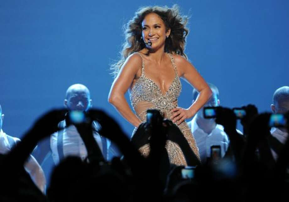 Jennifer Lopez suffered a wardrobe malfunction in Italy during her 2012 world tour. Lopez was performing in this skin-tight catsuit (pictured from her show in Germany), when ...   (AFP/Getty Images)