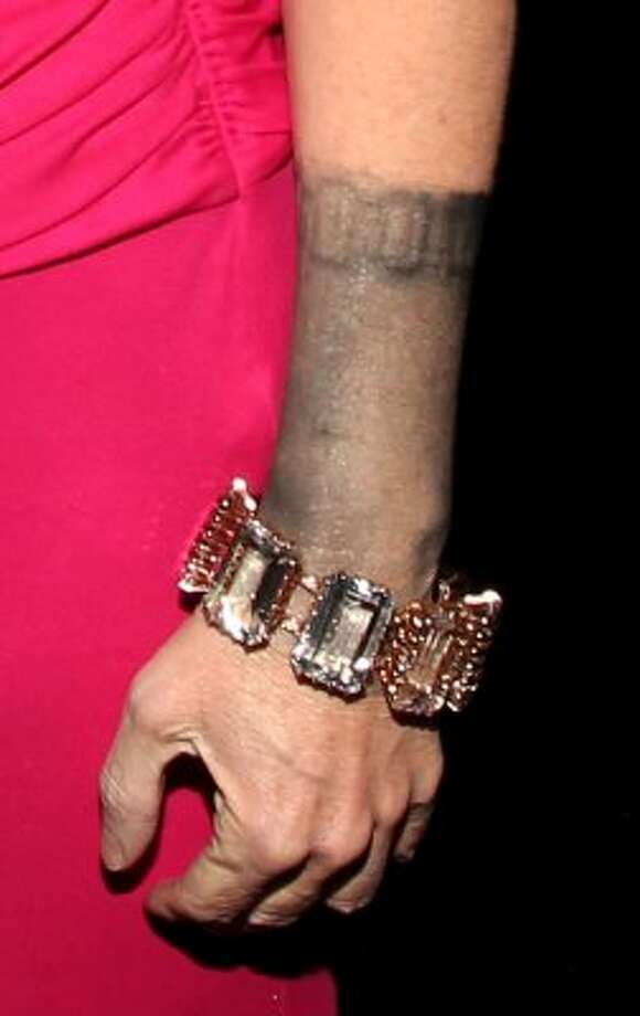 It's always bad news when your jewelry has a mind of its own. This is Kathy Griffin's bracelet at the 2012 People's Choice Awards. (Christopher Polk / Getty Images for PCA)