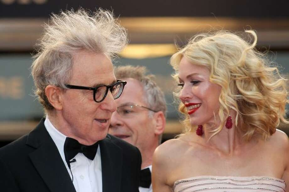 Not really a wardrobe malfunction, more a bad hair day on Woody Allen, with  Naomi Watts at the Cannes Film Festival in 2010.  (VALERY HACHE / AFP/Getty Images)