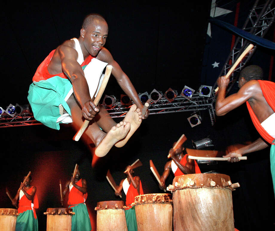 Royal Drummers and Dancers of Burundi will perform at Stamford's Palace Theatre on Friday, Oct. 19. Photo: Thomas Rosenthal