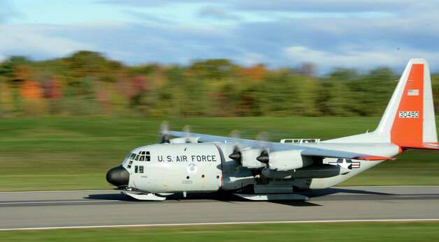An LC-230 from the 109th Airlift Wing takes off for the annual support mission for the National Science Foundation flight to Antarctica at the Stratton Air National Guard Base in Scotia, N.Y. Oct 16, 2012.       (Skip Dickstein/Times Union) Photo: Skip Dickstein / 00019679A