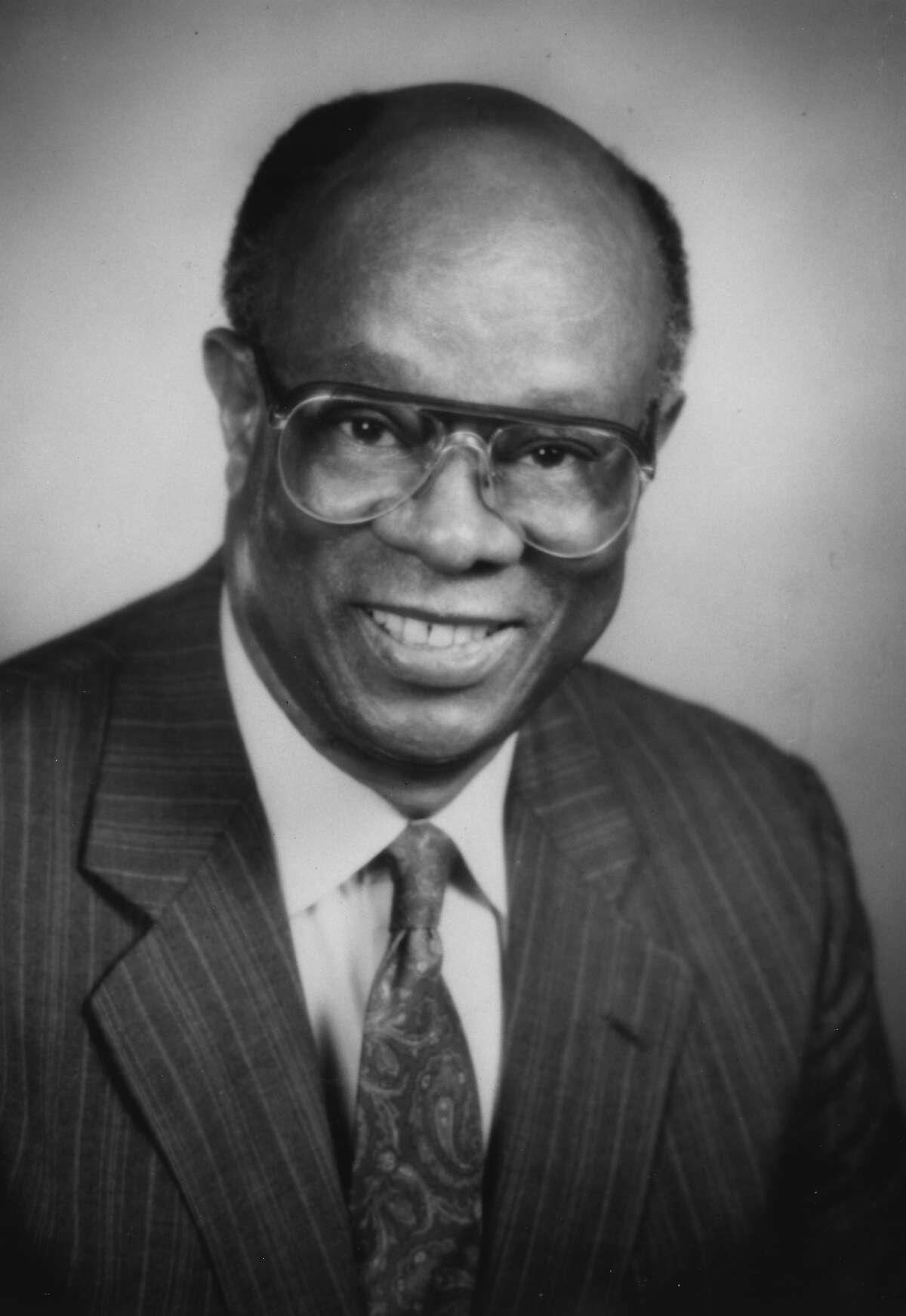 Former Trinity University urban studies professor Earl Lewis in 1988. Courtesy Trinity University.