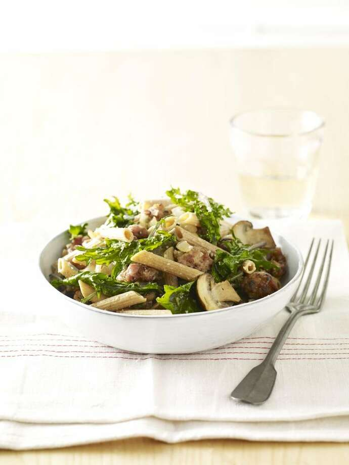 Good Housekeeping recipe for Sausage and Mushroom Penne. Photo: Kate Mathis