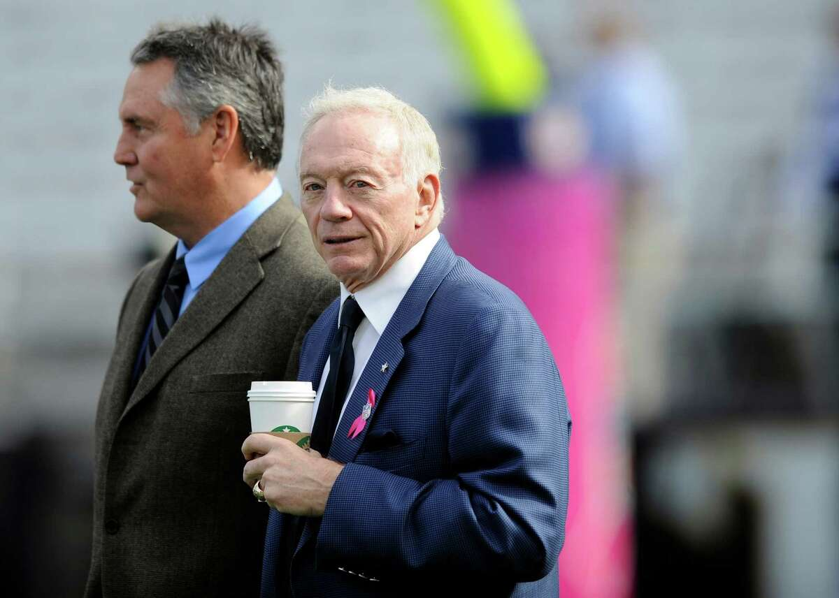 Cowboys owner Jerry Jones, looking on before Sunday's game in Baltimore, says his team is