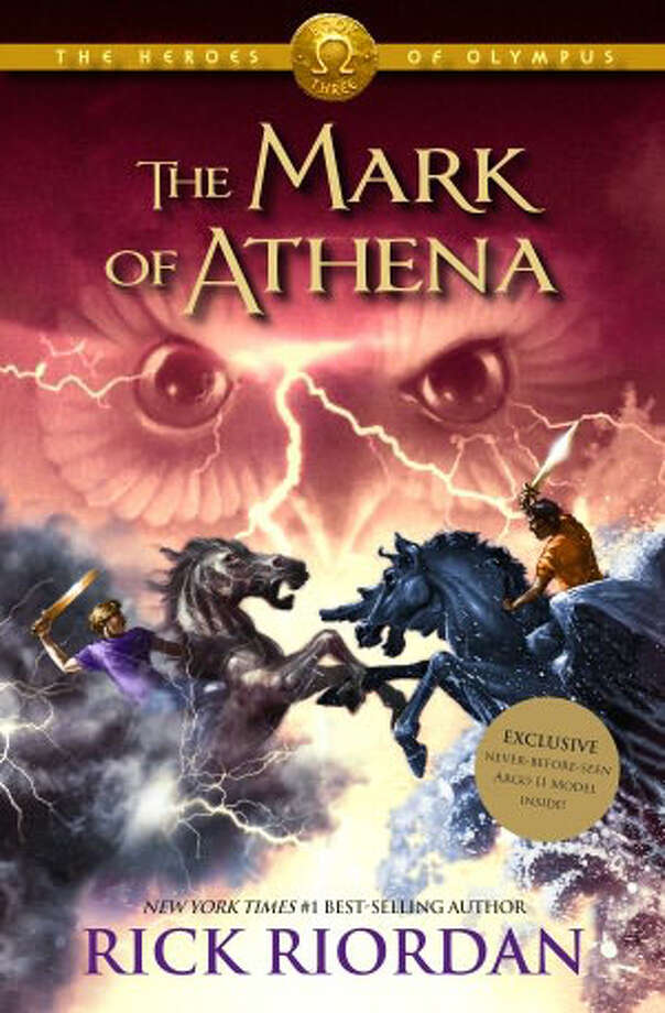 "The prolific San Antonio author Rick Riordan reaches the halfway mark of the ""Heroes of Olympus"" series with the just-published ""The Mark of Athena."""