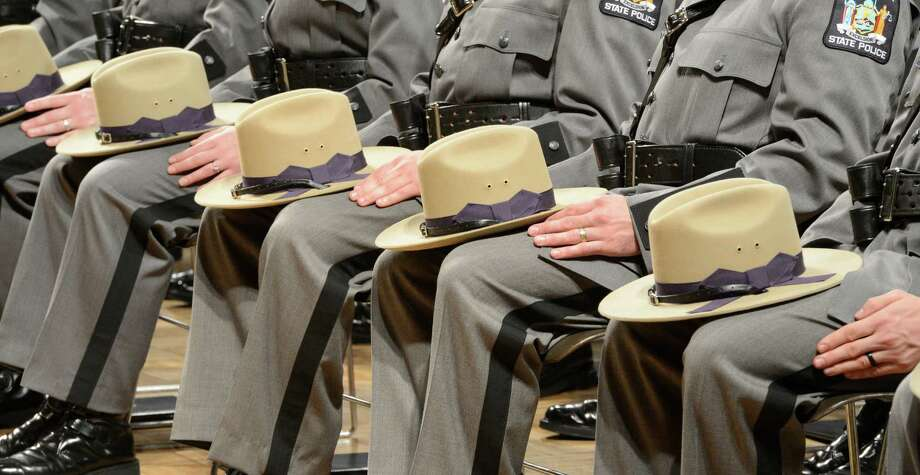 The Class 198 of the New York State Police today at the New York State Police Graduation at the Empire State Plaza Convention Center in Albany, N.Y. Oct 16, 2012.       (Skip Dickstein/Times Union) Photo: Skip Dickstein / 00019675A