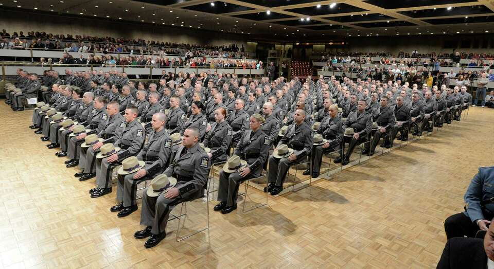 Members of the Class 198 of the New York State Police today at the New York State Police Graduation