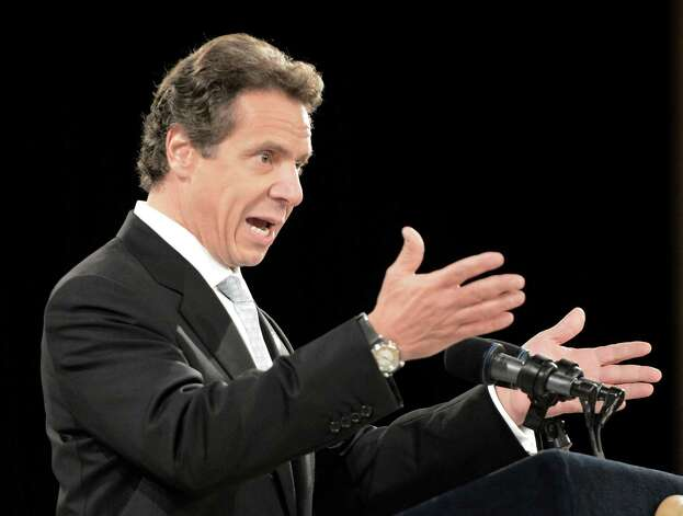 Governor Andrew Cuomo speaks  at the New York State Police Graduation at the Empire State Plaza Convention Center in Albany, N.Y. Oct 16, 2012.       (Skip Dickstein/Times Union) Photo: Skip Dickstein / 00019675A