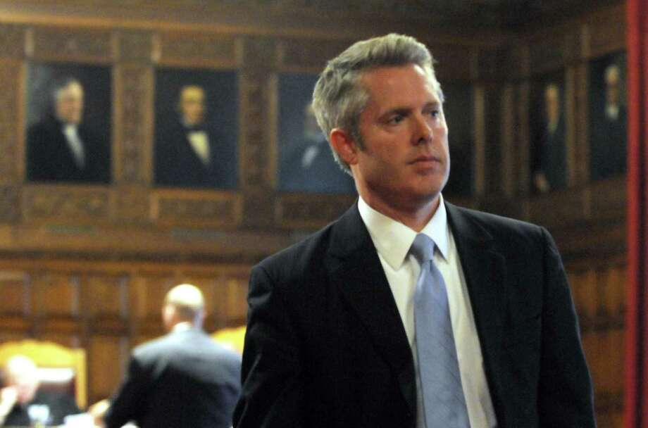 Assistant DA Christopher D. Horn leaves court after arguments in the Judge Herrick vs Soares case in Albany, NY Tuesday Oct. 16, 2012. (Michael P. Farrell/Times Union) Photo: Michael P. Farrell
