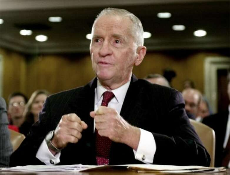 H. Ross Perot testifies on Capitol Hill Thursday, Oct. 12, 2000, before a Senate Appropriations subc