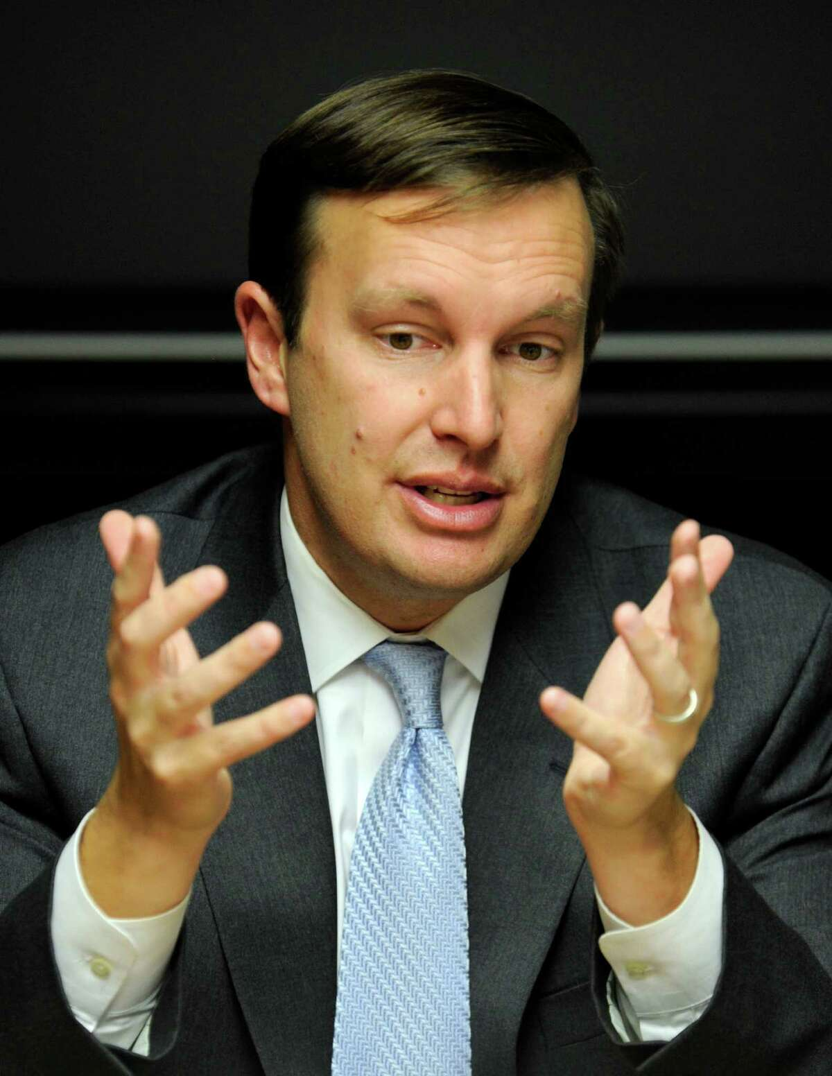 Congressman Chris Murphy meets with The News-Times editorial board Tuesday, Oct. 16, 2012.