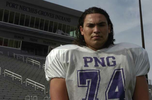 Justin Reasons is a senior starting offensive lineman for the Port Neches-Groves football team. Photo taken Monday, Oct. 15, 2012  Jared Ainsworth /The Enterprise
