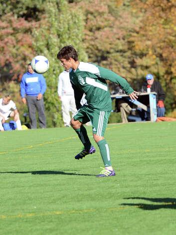 Darien boys soccer team clinches state playoffs with - Nacho navarro ...