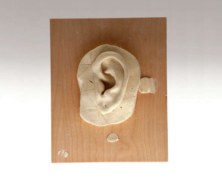A disguise-specialist applicant sculpted this test ear as part of the CIA's screening process.