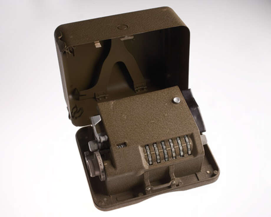 The M-209 is a mechanical cipher device designed that the U.S. Army used extensively during World War II. The compact device used a series of rotors to encode and decode secret military messages. Photo: Central Intelligence Agency