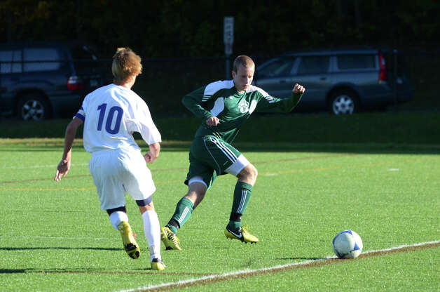 Norwalk's Paul Soja (17) during the boys soccer game against Darien at Darien High School on Tuesday, Oct. 16, 2012. Photo: Amy Mortensen / Connecticut Post Freelance