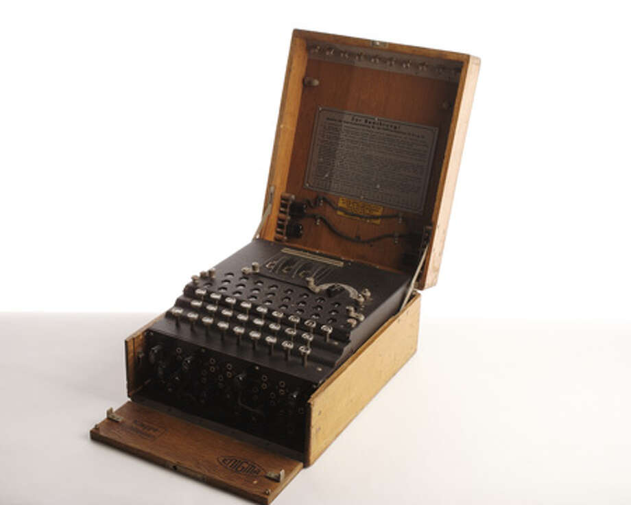 During World War II, the Germans used the Enigma cipher machine, whose settings offered 150,000,000,000,000,000,000 possible solutions. The machine was developed in the Netherlands to communicate banking secrets. The Germans bought the patent in 1923 for intelligence purposes. Polish intelligence officers bought an Enigma at a trade fair and got a codebook from a French agent. They turned the materials over to the Allies after Poland was overrun in 1939. The British broke the code and, by end of the war, were reading 10 percent of all German Enigma communications at Bletchley Park, in England, on the world's first electromagnetic computers. This is a three-rotor Enigma. The Germans eventually added two more rotors, and with each change, Allies had to obtain a new machine and codebooks. Photo: Central Intelligence Agency