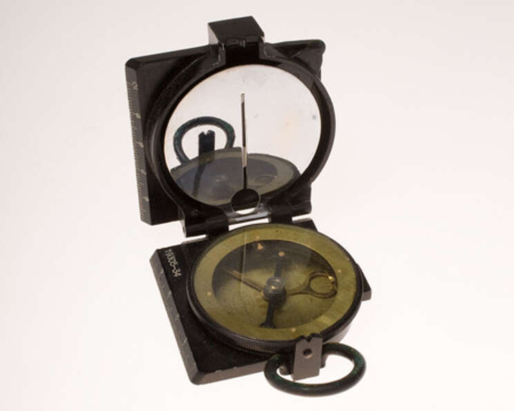 This compass was used by an Office of Strategic Services officer who served with OSS Detachment 202