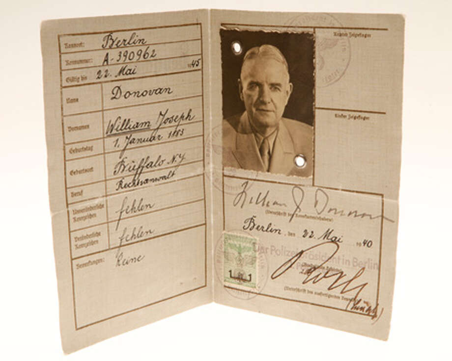 A false German ID card produced for William J. Donovan who was the director of the U.S. Office of Strategic Services, an intelligence agency formed during World War II. The OSS was the predecessor to the CIA. Photo: Central Intelligence Agency