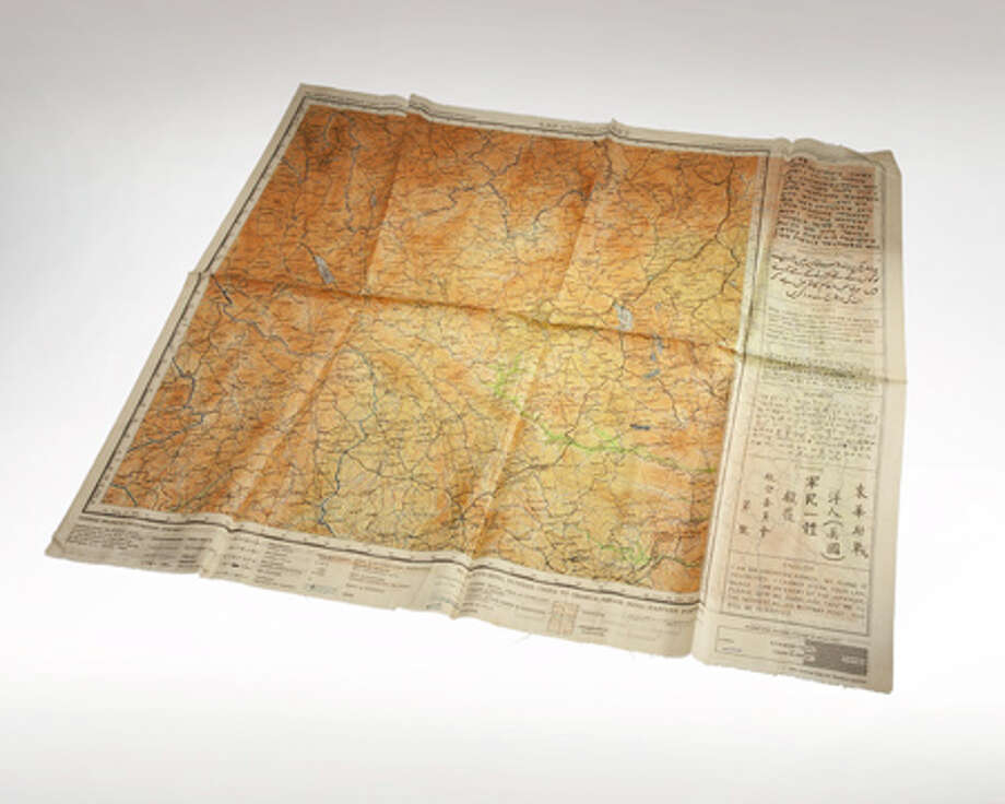 This Office of Strategic Services Silk escape and evasion map was printed on silk, which is durable, doesn't rustle at night and can be folded up very compactly to be more easily concealed. It is printed with waterproof dyes so the colors would not run if it got wet. Photo: Central Intelligence Agency