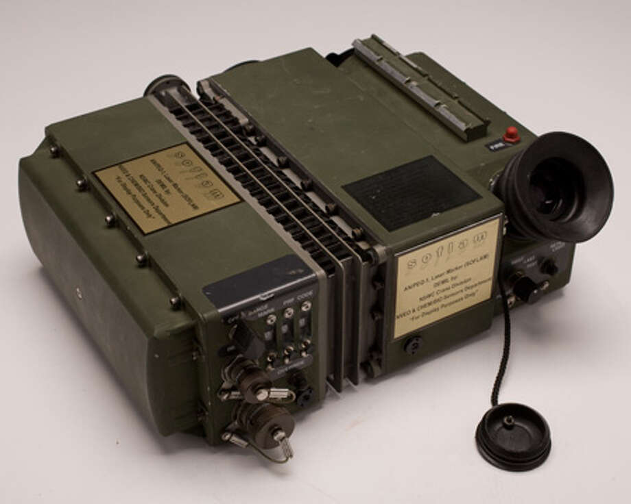 U.S. Special Operations forces in Afghanistan used the AN/PEQ-1A laser marker to direct exact delivery of ordnance. It an important tool in the battle for Tora Bora, where a CIA‑Special Forces team directed 72 hours of unrelenting air strikes -- sometimes dangerously close to their own position -- killing hundreds of al‑Qa'ida terrorists. Photo: Central Intelligence Agency